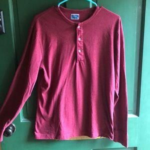 Men's JCREW red long sleeved thermal